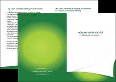 exemple depliant 2 volets  4 pages  vert fond vert abstrait MIF64380