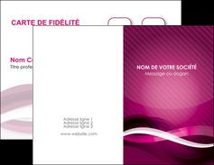 imprimer carte de visite violet violet fonce couleur MIF64524