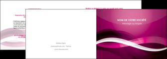 modele en ligne depliant 2 volets  4 pages  violet violet fonce couleur MIF64530