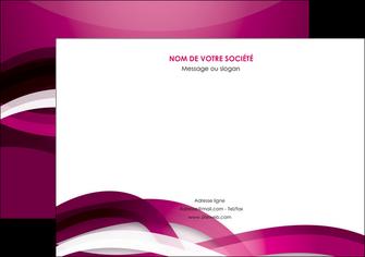 personnaliser maquette flyers violet violet fonce couleur MIF64548
