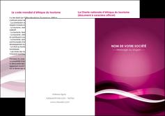 imprimerie depliant 2 volets  4 pages  violet violet fonce couleur MIF64554