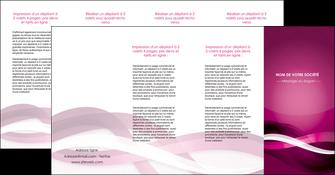 cree depliant 4 volets  8 pages  violet violet fonce couleur MIF64562