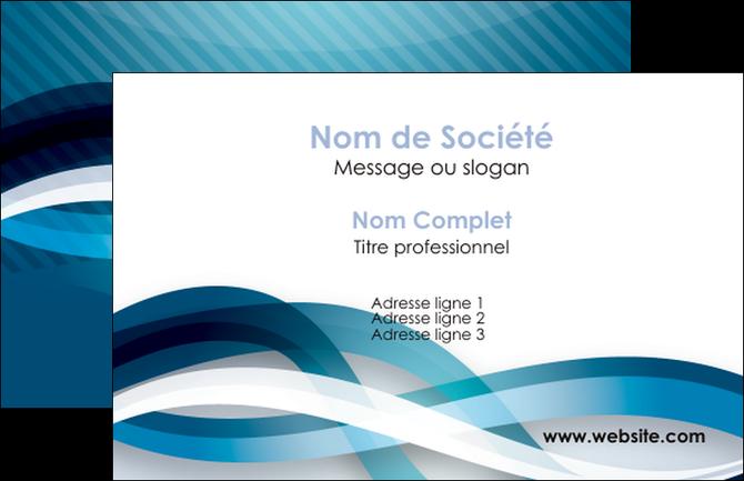 Creation Graphique En Ligne Carte De Visite Web Design Bleu Fond Couleurs Froides MLGI64680