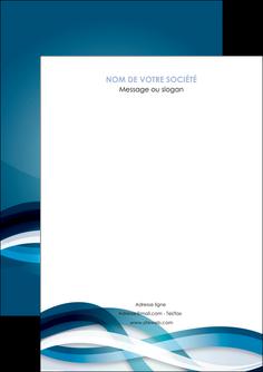 exemple flyers web design bleu fond bleu couleurs froides MIS64682
