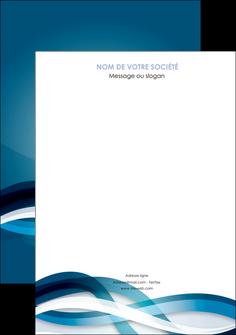 imprimer affiche web design bleu fond bleu couleurs froides MIS64688
