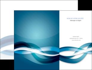 imprimerie pochette a rabat web design bleu fond bleu couleurs froides MIS64692