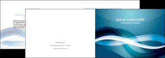 personnaliser maquette depliant 2 volets  4 pages  web design bleu fond bleu couleurs froides MIS64696