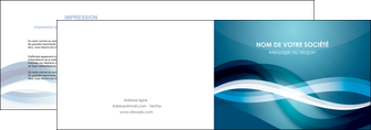 exemple depliant 2 volets  4 pages  web design bleu fond bleu couleurs froides MLGI64698