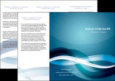creer modele en ligne depliant 3 volets  6 pages  web design bleu fond bleu couleurs froides MIS64706