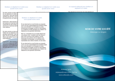 creer modele en ligne depliant 3 volets  6 pages  web design bleu fond bleu couleurs froides MLGI64706