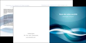 exemple depliant 2 volets  4 pages  web design bleu fond bleu couleurs froides MLGI64710