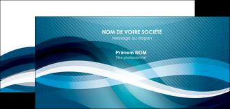 modele carte de correspondance web design bleu fond bleu couleurs froides MIS64718