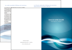 faire depliant 2 volets  4 pages  web design bleu fond bleu couleurs froides MLGI64720