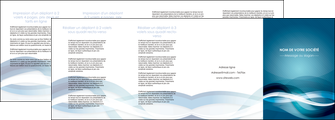 maquette en ligne a personnaliser depliant 4 volets  8 pages  web design bleu fond bleu couleurs froides MLGI64724