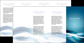 faire depliant 4 volets  8 pages  web design bleu fond bleu couleurs froides MLGI64728