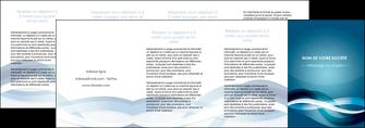cree depliant 4 volets  8 pages  web design bleu fond bleu couleurs froides MIS64730