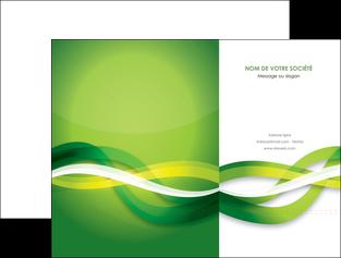 personnaliser maquette pochette a rabat vert verte fond vert MLGI64746