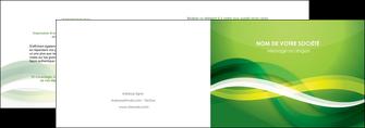 imprimer depliant 2 volets  4 pages  vert verte fond vert MLGI64748