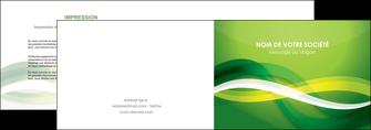 creation graphique en ligne depliant 2 volets  4 pages  vert verte fond vert MLGI64750