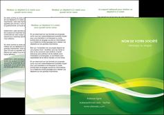 faire depliant 3 volets  6 pages  vert verte fond vert MLGI64758