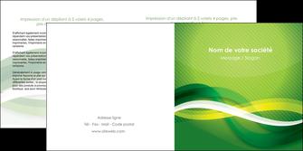imprimer depliant 2 volets  4 pages  vert verte fond vert MLGI64762