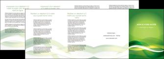 maquette en ligne a personnaliser depliant 4 volets  8 pages  vert verte fond vert MLGI64776