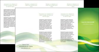 imprimerie depliant 4 volets  8 pages  vert verte fond vert MLGI64780