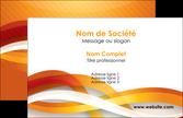 personnaliser maquette carte de visite orange colore couleur MLIP64802
