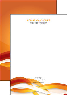 maquette en ligne a personnaliser flyers orange colore couleur MLGI64804
