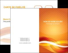 modele carte de visite orange colore couleur MLGI64812