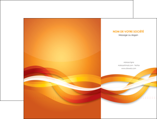 maquette en ligne a personnaliser pochette a rabat orange colore couleur MLGI64816