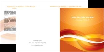 faire depliant 2 volets  4 pages  orange colore couleur MLGI64832