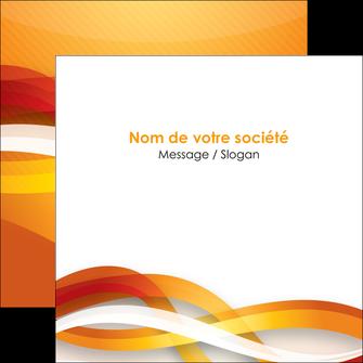 personnaliser maquette flyers orange colore couleur MLGI64834
