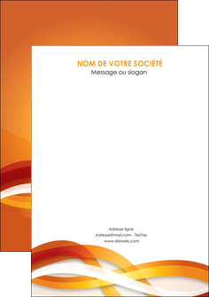 personnaliser modele de flyers orange colore couleur MLGI64848