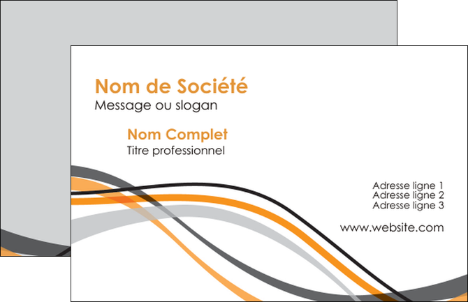 Faire Modele A Imprimer Carte De Visite Orange Gris Noir MLGI65062