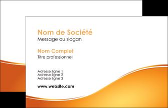 maquette en ligne a personnaliser carte de visite orange fond orange fluide MLGI65428