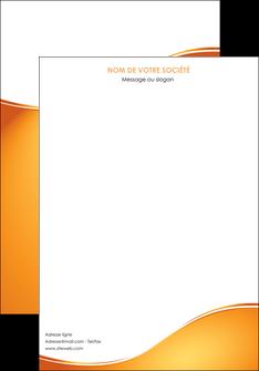 modele en ligne affiche orange fond orange fluide MLGI65434