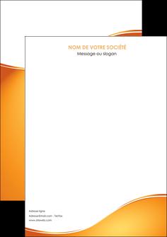 modele affiche orange fond orange fluide MLGI65436