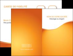 realiser carte de visite orange fond orange fluide MLGI65438