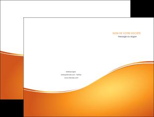 faire modele a imprimer pochette a rabat orange fond orange fluide MLGI65440