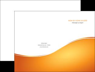 modele pochette a rabat orange fond orange fluide MLGI65442