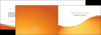 faire modele a imprimer depliant 2 volets  4 pages  orange fond orange fluide MLGI65444