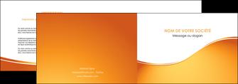 personnaliser modele de depliant 2 volets  4 pages  orange fond orange fluide MLGI65446
