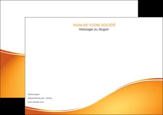 maquette en ligne a personnaliser affiche orange fond orange fluide MLGI65450