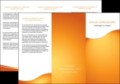 personnaliser modele de depliant 3 volets  6 pages  orange fond orange fluide MLGI65454