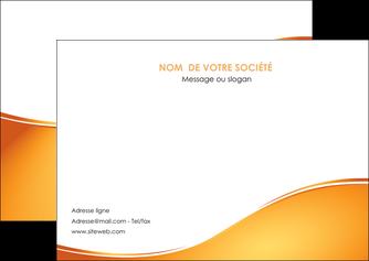 faire modele a imprimer flyers orange fond orange fluide MLGI65456