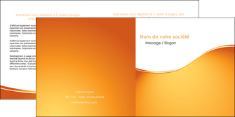 modele en ligne depliant 2 volets  4 pages  orange fond orange fluide MLGI65458