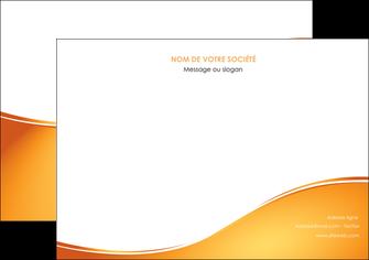 maquette en ligne a personnaliser flyers orange fond orange fluide MLGI65462