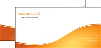 impression flyers orange fond orange fluide MIF65464