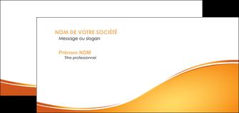 cree carte de correspondance orange fond orange fluide MLGI65466